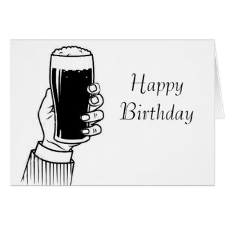 Pint Stout image for birthday-greeting-card Greeting Card