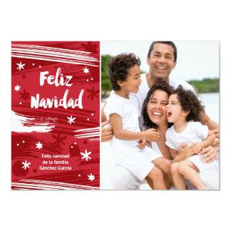 Pintado Feliz Navidad Card