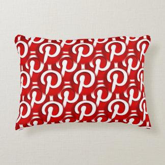 Pinterest Icon Decorative Cushion
