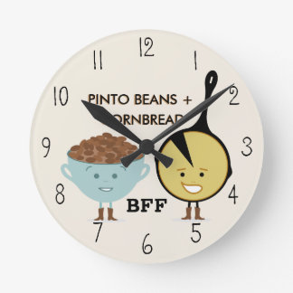Pinto Beans & Cornbread Best Friends Clock