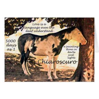 Pinto Deaf Horse Chiaro Card