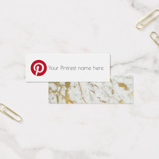 pintrest social media blog creator business card