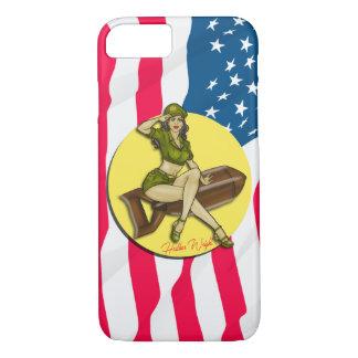 Pinup Girl Bombshell, Latina iPhone 8/7 Case