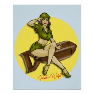 Pinup Girl Bombshell, Latina Poster