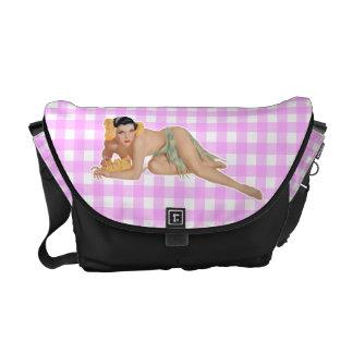 Pinup Girl Messenger Bag