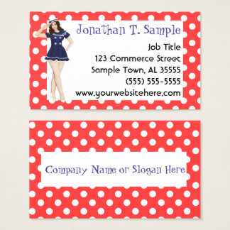 Pinup Girl Retro Dots Rockabilly