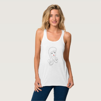 PinUp Girl T-shirt without sleeves