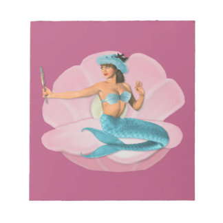 Pinup mermaid notepad