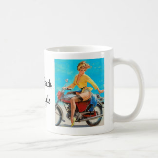 Pinup Motorcycle Coffee Mug