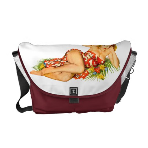 Pinup Pin Up Girl Messenger Bags
