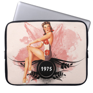 Pinup pink laptop sleeve