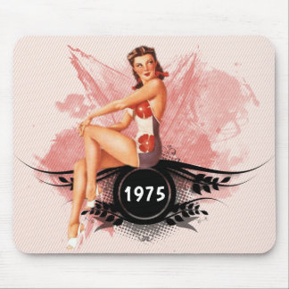 Pinup pink mouse pad