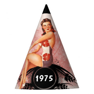 Pinup pink party hat