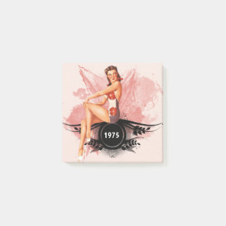 Pinup pink post-it notes