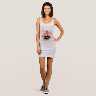 Pinup pink sleeveless dress