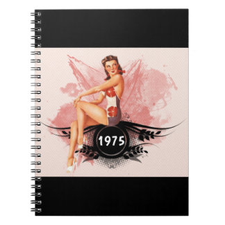 Pinup pink spiral notebook