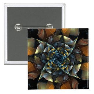 Pinwheel Abstract Art Button (square)