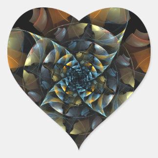 Pinwheel Abstract Art Heart Sticker