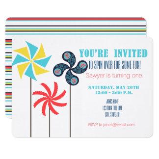 Pinwheel Birthday Invitation {Carnival}