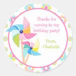 Pinwheel Birthday Party Sticker