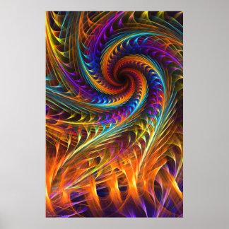 """""""Pinwheel Dreams"""" -  Abstract Spiral Fractal Art Poster"""
