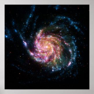 Pinwheel Galaxy Spiral Space Print