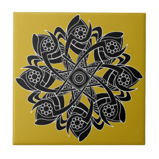 Pinwheel Geometric Artwork Design Ceramic Tile