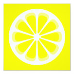 pinwheel lemon 13 cm x 13 cm square invitation card