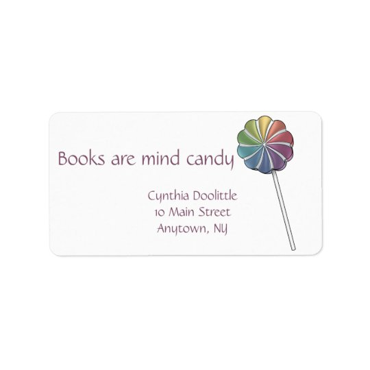 Pinwheel Lollipop Bookplate Address Label