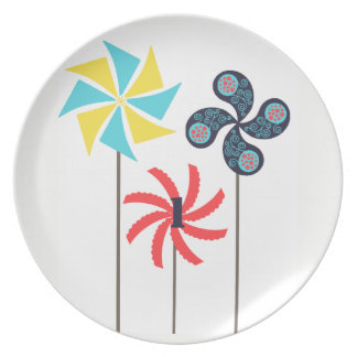 Pinwheel Melanine Plate