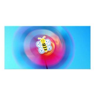 Pinwheel toy photocard personalized photo card