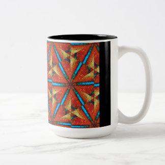 Pinwheels - African Trade Beads #1 Two-Tone Coffee Mug