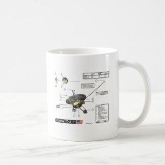 Pioneer 10 & 11 Illustration Coffee Mug