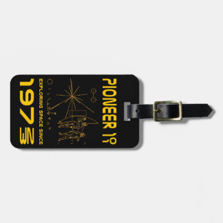 Pioneer 10 & 11 | Space 1972 & 1973 | gold Luggage Tag