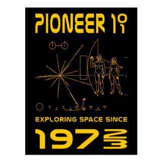 Pioneer 10 & 11 | Space 1972 & 1973 | gold Postcard