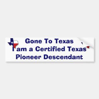 Pioneer Descendant Bumper Sticker