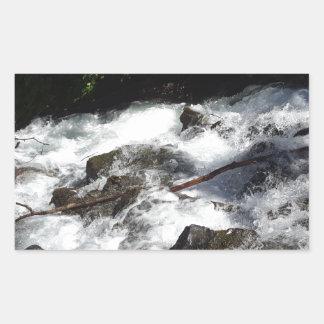 Pioneer Falls Butte Alaska Rectangular Sticker