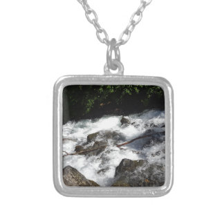 Pioneer Falls Butte Alaska Silver Plated Necklace