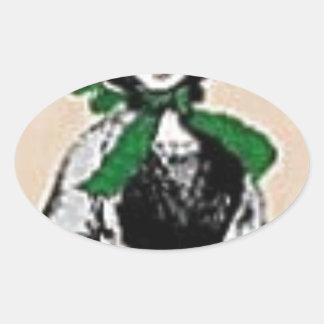 Pioneer Lady Oval Sticker