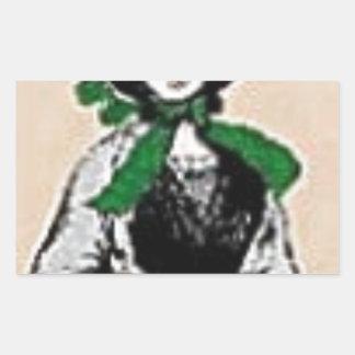Pioneer Lady Rectangular Sticker