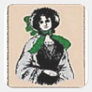 Pioneer Lady Square Sticker