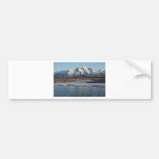 Pioneer Peak Mountain and Matanuska river Bumper Sticker