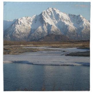 Pioneer Peak Mountain and Matanuska river Napkin
