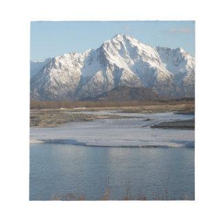 Pioneer Peak Mountain and Matanuska river Notepad