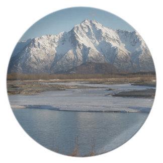 Pioneer Peak Mountain and Matanuska river Plate