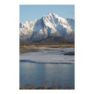 Pioneer Peak Mountain and Matanuska river Stationery