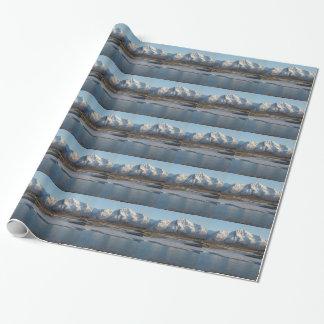 Pioneer Peak Mountain and Matanuska river Wrapping Paper