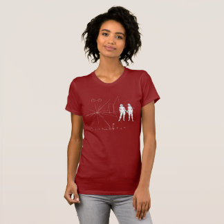 Pioneer plaque Future is female T-Shirt
