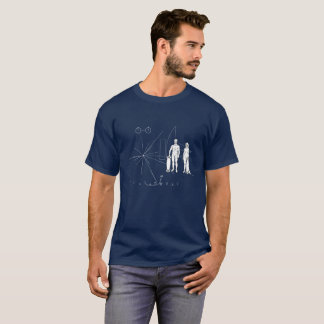 Pioneer plaque Skateboarder T-Shirt