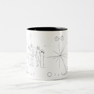 Pioneer plaque Snowboard Two-Tone Coffee Mug